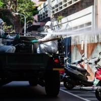 Taiwan Army disinfects Taipei's Wanhua amid COVID surge