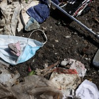 Environmentalists warn face masks causing plastic pollution