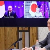 Japan, EU speak out on Taiwan Strait issue
