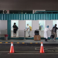 Taiwan airport sets up 10 COVID testing stations