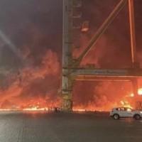 杜拜最大港貨櫃船爆炸震撼方圓25公里 國內航商無影響