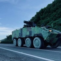 'Clouded Leopard' armored vehicles take to Taiwan's roads