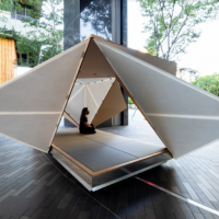 Japanese architect's teahouse installation makes Taiwan debut