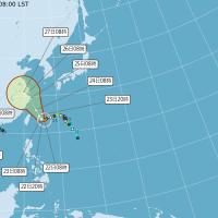 中度颱風「烟花」龜速移動 22日發陸警機會不高 北部東北部降雨越晚越明顯