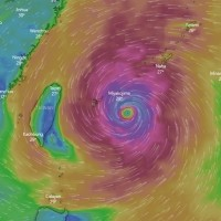 Northern Taiwan sees over 200 mm of rain from Typhoon In-Fa
