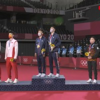 Taiwan's national flag anthem played in front of Chinese athletes for 1st time