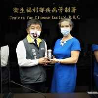 New American Institute in Taiwan director meets with health minister