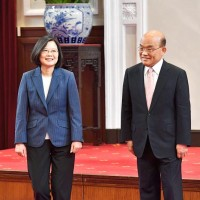Taiwan president backs premier, rejects reshuffle talk