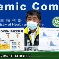 台灣8/31增3例本土新冠肺炎 2例感染源不明 另增1死