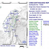Magnitude 5.9 earthquake rocks eastern Taiwan