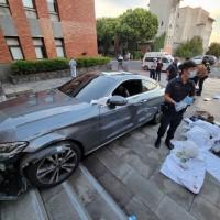 Angry dormitory supervisor slams sports car into Taiwan university