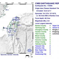 Magnitude 5.6 earthquake strikes central Taiwan