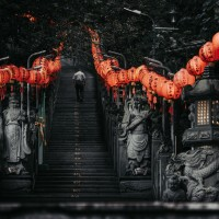 Photo of the Day: Temple hopping before typhoon