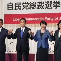 菅義偉不參選 日本自民黨總裁選舉4強混戰