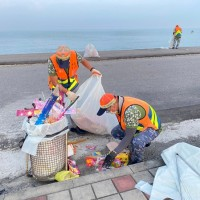 8.5 tons of garbage collected at southern Taiwan city's coastal attractions last weekend