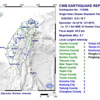Magnitude 5.7 earthquake rocks northeast Taiwan