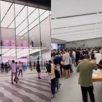 Video shows Chinese iPhone fans ignore man's calls to 'support Huawei'
