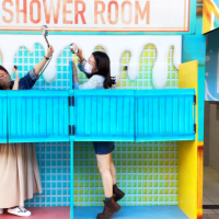 Fisherman's Wharf station in Taipei gets a summer beach makeover