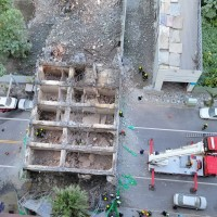 East Taiwan hotel topples into street during demolition