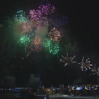 Crowds gather for National Day fireworks in Taiwan's Kaohsiung