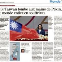 Envoy to Switzerland warns entire world suffers if China seizes Taiwan