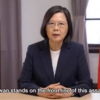 President says Taiwan will stand up to 'threats from authoritarian actors'