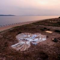 寧靜!金門海洋藝術節展出為期兩年 台灣、日本、墨西哥共創地景裝置