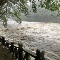 Rescue team looking for children swept away by swollen north Taiwan river
