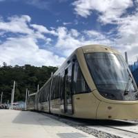 【安坑輕軌列車42%台灣製造】首列車登「廠」 測試 力拼2022年底通車