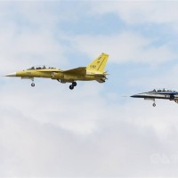 Taiwan's domestically produced 'Brave Eagle' jet trainer makes debut flight