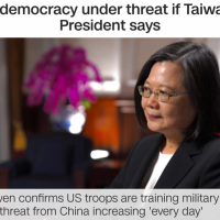 Tsai 1st president in 40 years to confirm US troops are in Taiwan