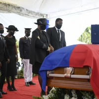 Violent protests mar funeral of slain Haiti president