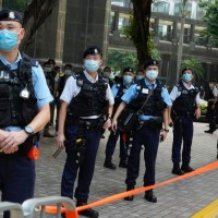 Seven Hong Kong activists jailed over unauthorised protest in 2020