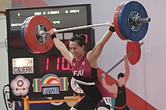 Taiwanese weightlifter breaks national record