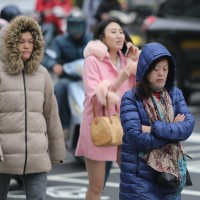 Winter coats are back in Taiwan
