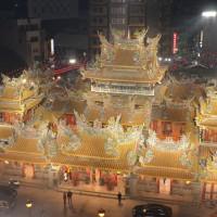 每日一圖:國際級燈光設計 北港朝天宮璀璨光雕