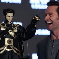 Photo of the Day: Hugh Jackman receives Taiwanese Wolverine glove puppet