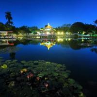 每日一圖:台南公園慶百歲 重現日式瀑布