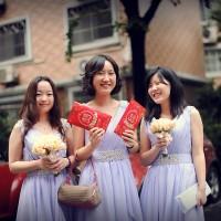 在中國當伴娘太危險 只好花錢聘請專業的