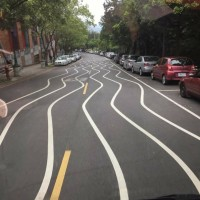 Photo of the Day: Wavy road lines in Taipei