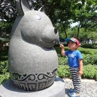 Q版12生肖景觀步道 板橋石雕公園成打卡熱點