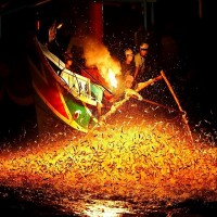 Free beach concert and fire fishing watching in northern Taiwan's Jinshan