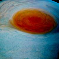 NASA新影像 朱諾號與木星大紅斑的邂逅