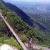 Taiwan's longest sightseeing suspension bridge to open in Chiayi County in September