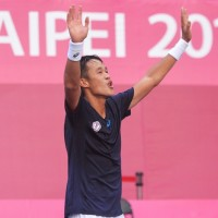 Taiwan's tennis player takes gold in Universiade men's singles