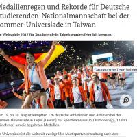 Taiwan's Universiade makes German headlines