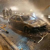 雪山隧道BMW火燒車 4名乘客逃生