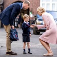 英國喬治小王子第一天上學 凱特王妃孕吐無法陪伴