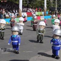 國慶暖場表演 動感三軍娃娃吸睛力十足