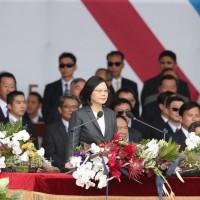 Tsai Ing-wen portrays Taiwan as peace-lover in National Day speech